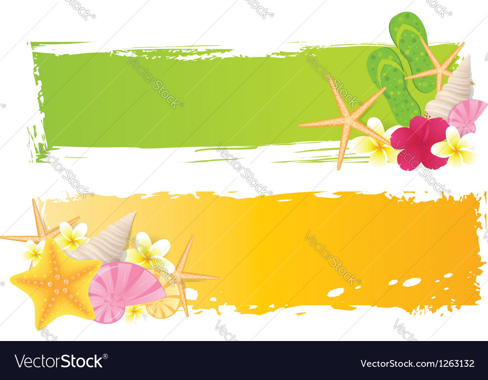 Summer grunge two banners vector | Price: 3 Credit (USD $3)