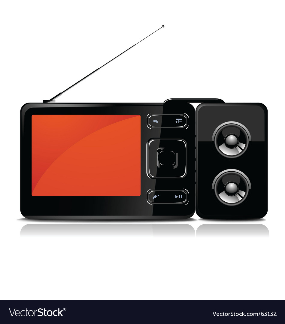 Tv mp3 player vector | Price: 1 Credit (USD $1)