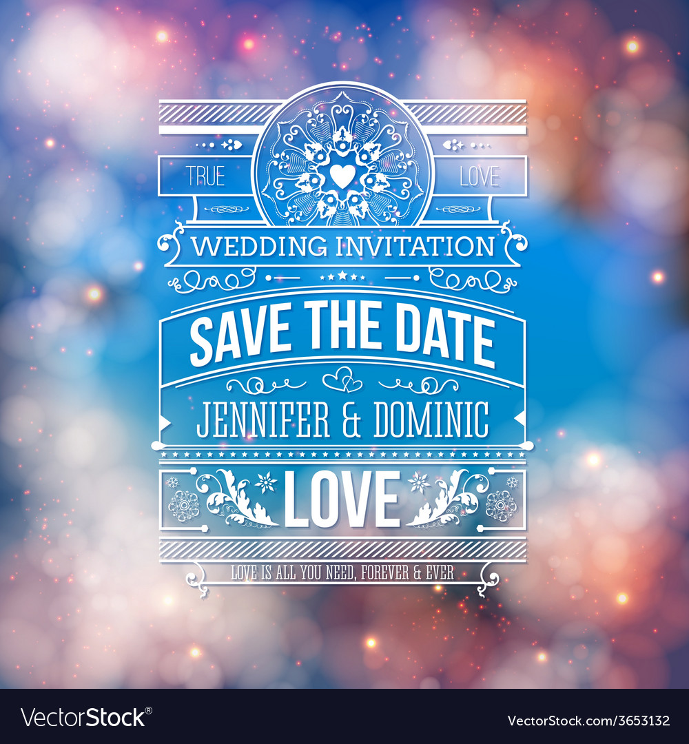 Wedding concept - save the date artistic design vector | Price: 1 Credit (USD $1)