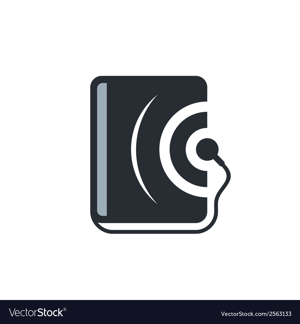 Audio book sign vector | Price: 1 Credit (USD $1)