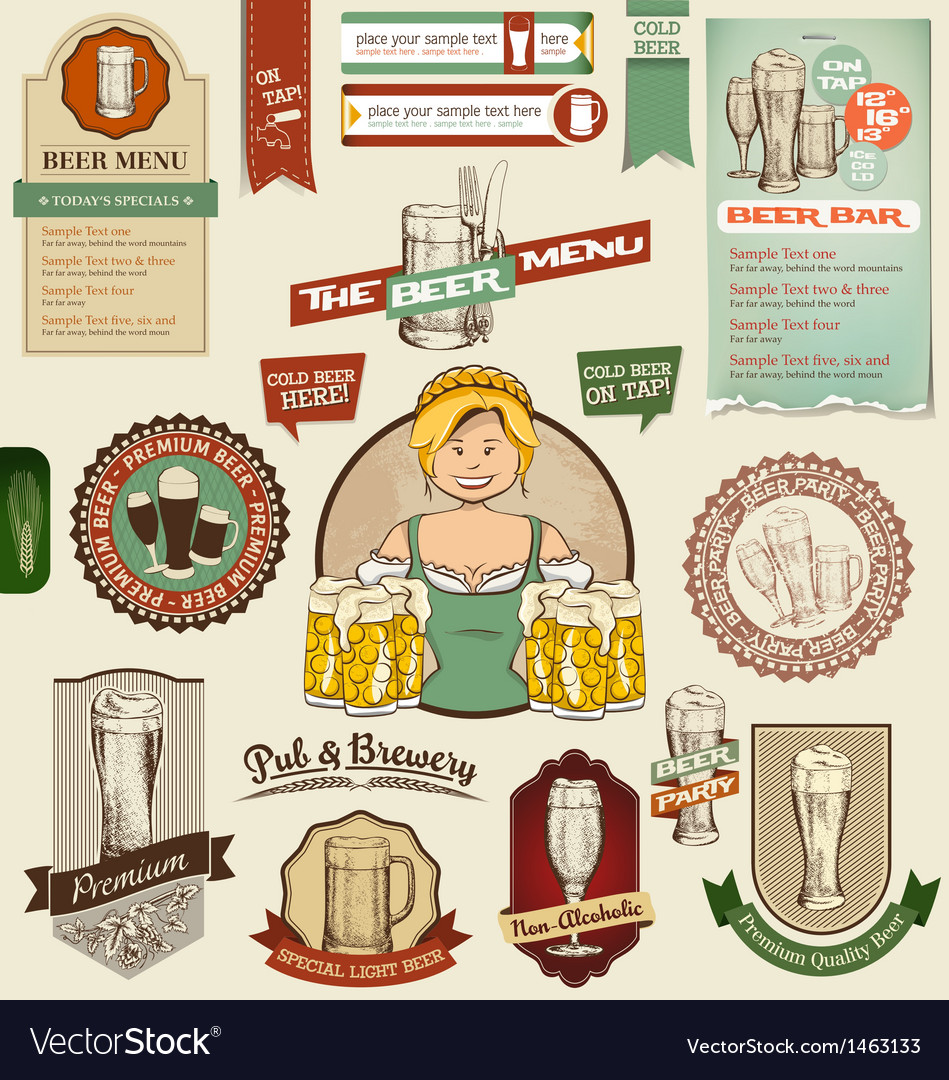 Beer design elements vector | Price: 3 Credit (USD $3)