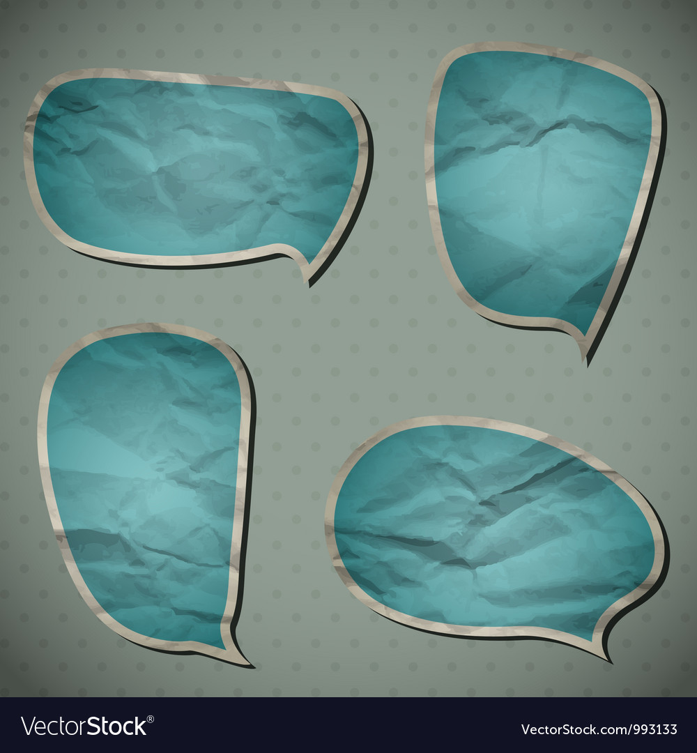 Blue crumpled frames vector | Price: 1 Credit (USD $1)