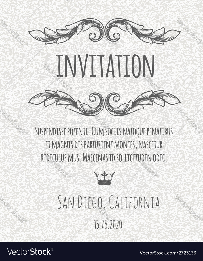 Certificate template invitation with floral design vector | Price: 1 Credit (USD $1)