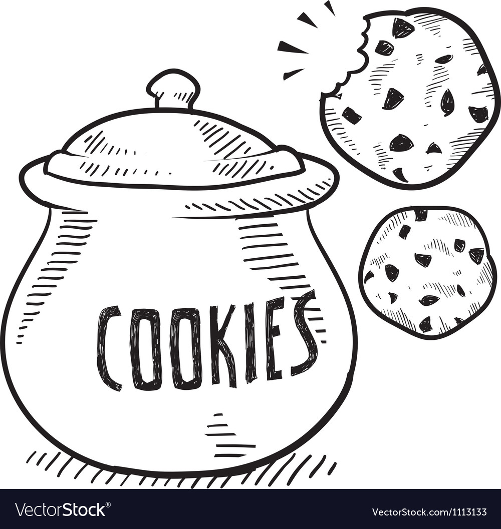 Doodle cookie jar vector | Price: 1 Credit (USD $1)