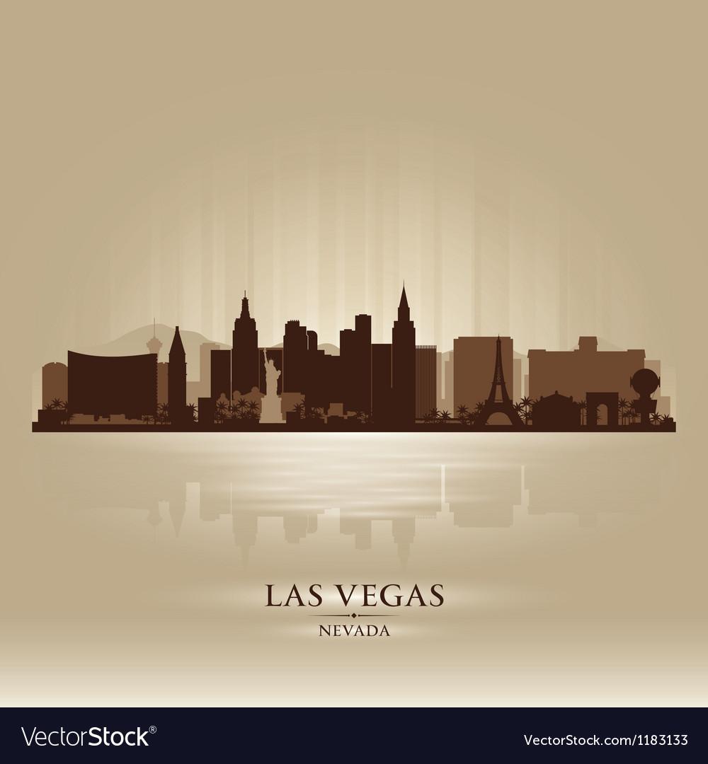 Las vegas nevada skyline city silhouette vector | Price: 1 Credit (USD $1)