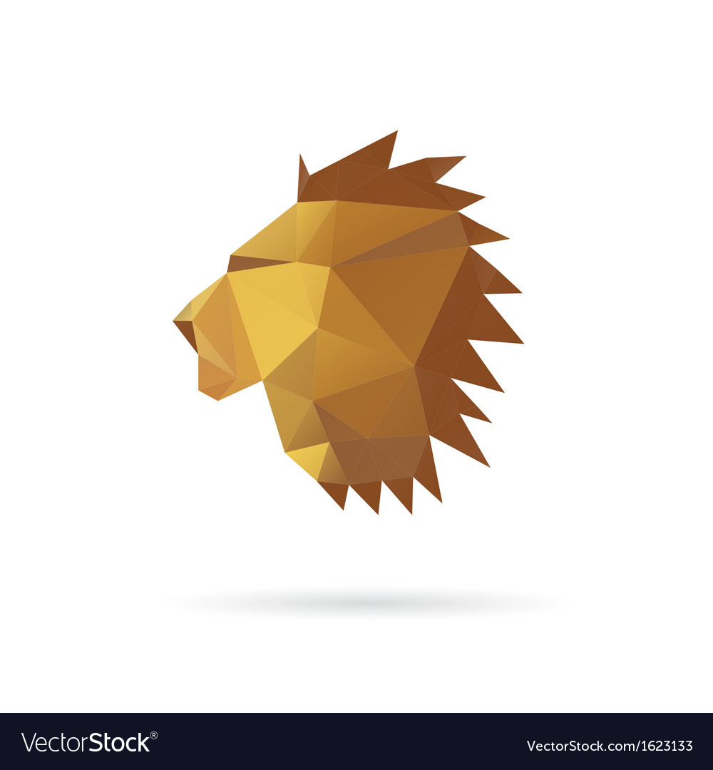 Lion head abstract isolated on a white backgrounds vector | Price: 1 Credit (USD $1)