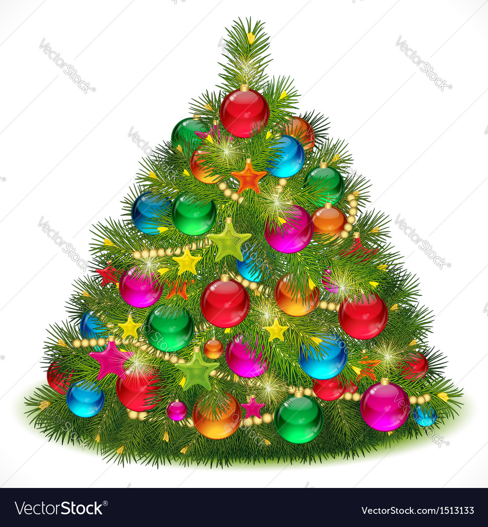 Lush christmas tree vector | Price: 1 Credit (USD $1)