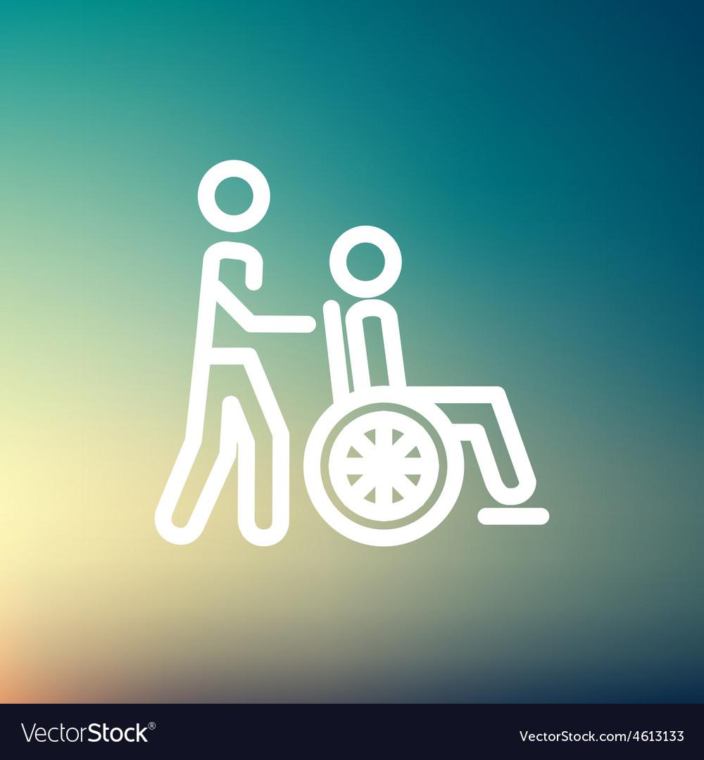 Nursing care thin line icon vector | Price: 1 Credit (USD $1)