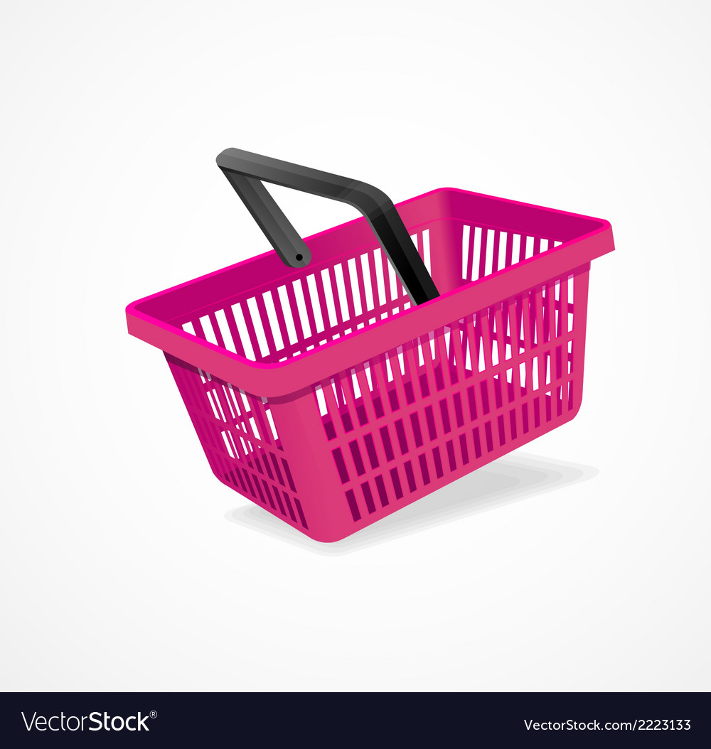 Shopping basket pink vector | Price: 1 Credit (USD $1)
