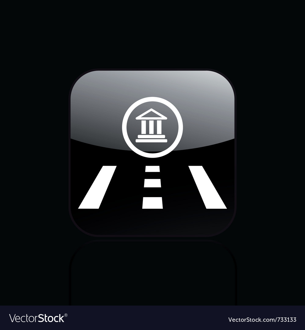 Temple direction icon vector | Price: 1 Credit (USD $1)