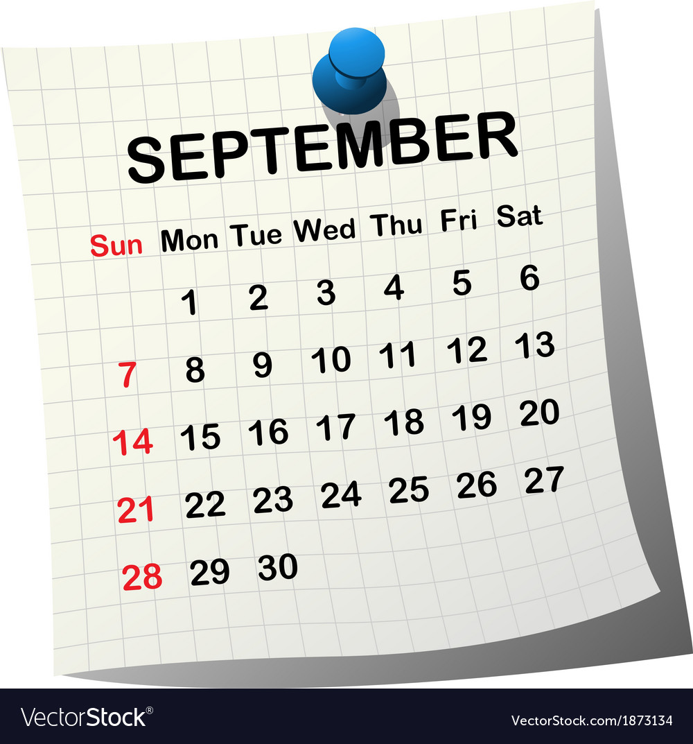 2014 paper calendar for september vector | Price: 1 Credit (USD $1)
