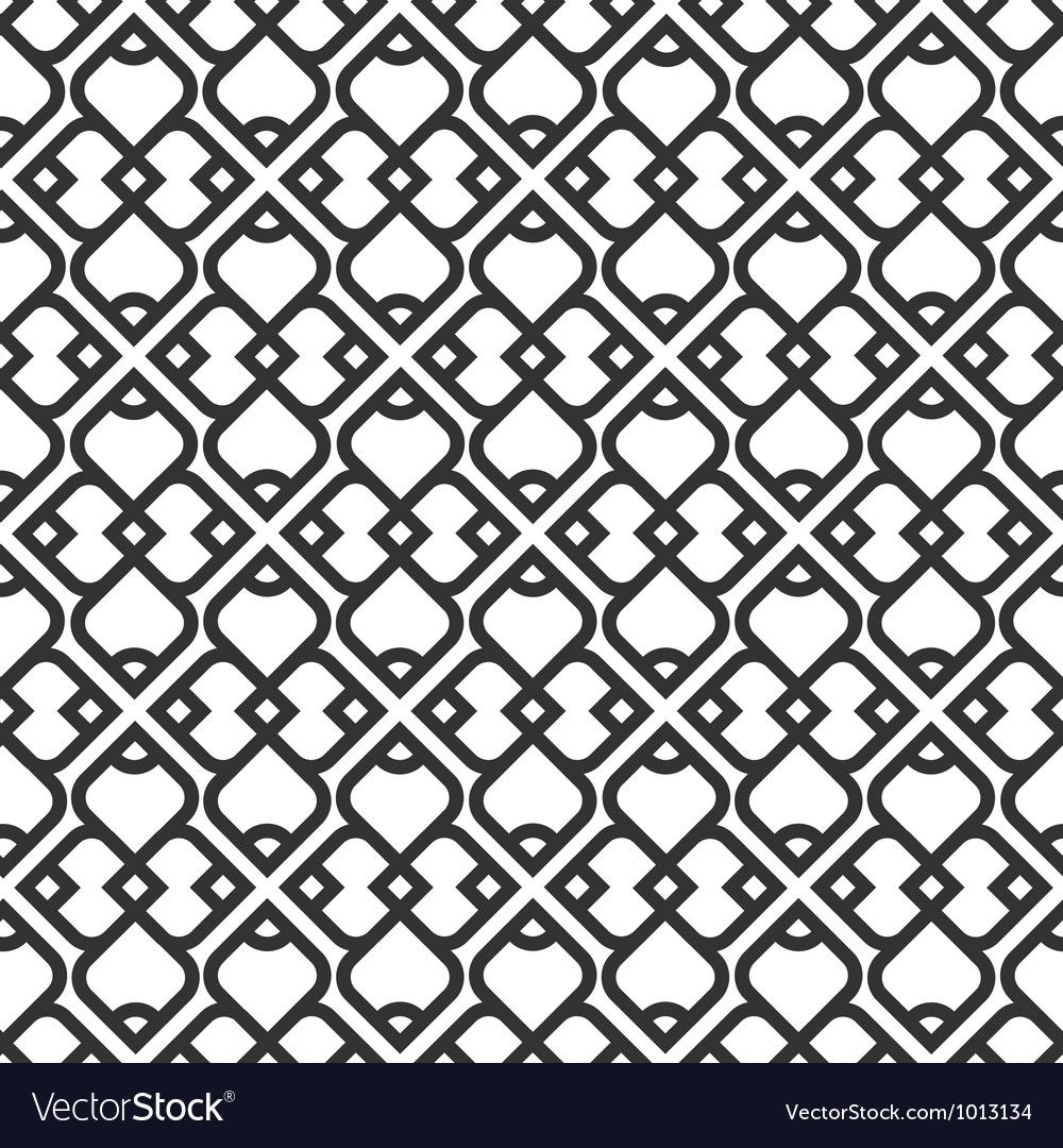 Black and white islamic seamless pattern vector | Price: 1 Credit (USD $1)