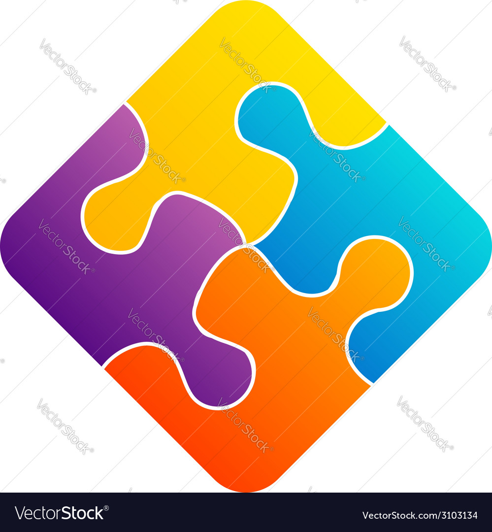 Colorful puzzle- corporate logo for business vector | Price: 1 Credit (USD $1)