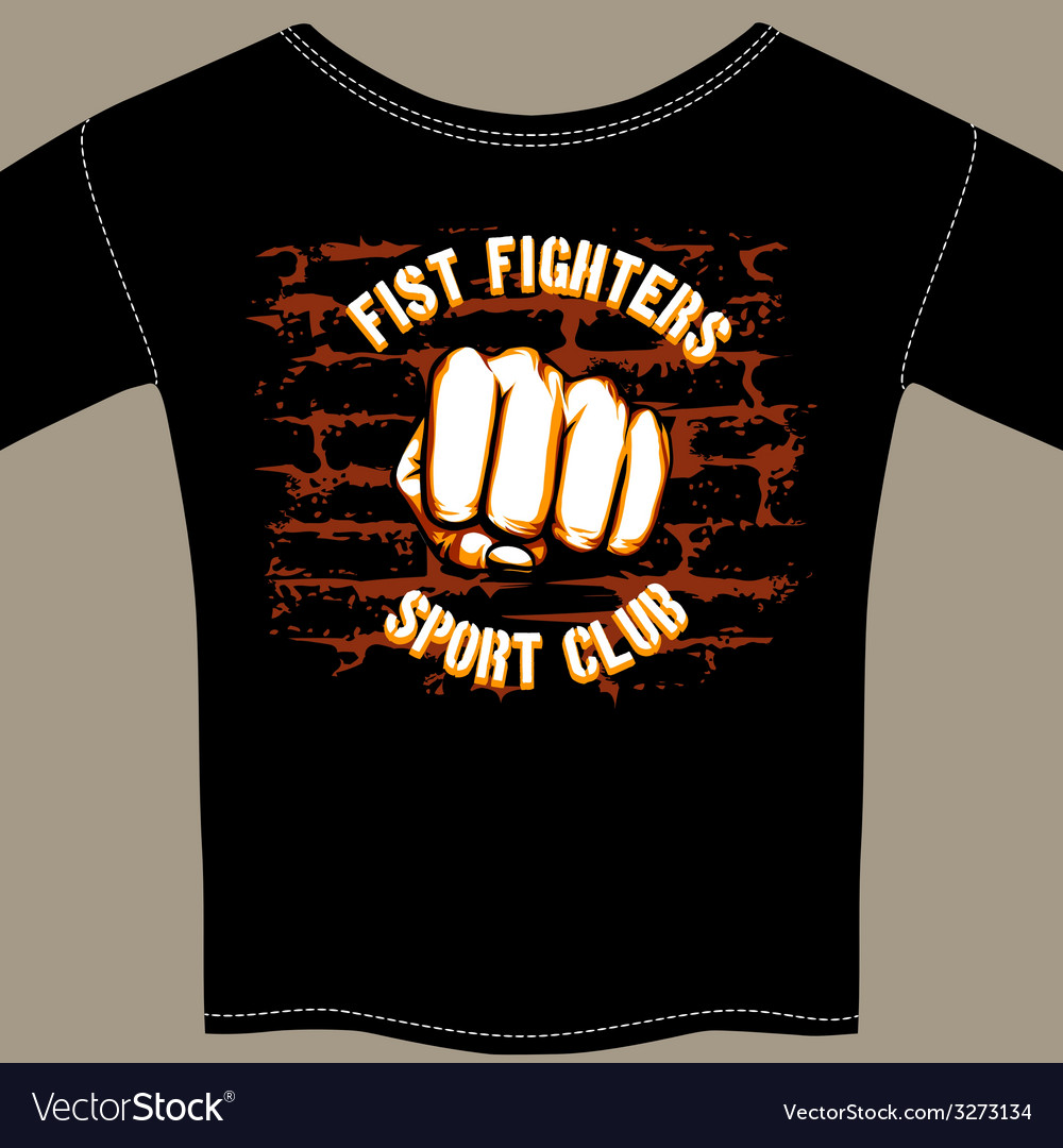 Cool fight club shirt template design vector | Price: 1 Credit (USD $1)