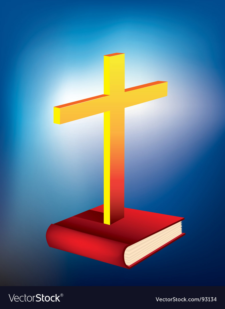 Cross and bible vector | Price: 1 Credit (USD $1)