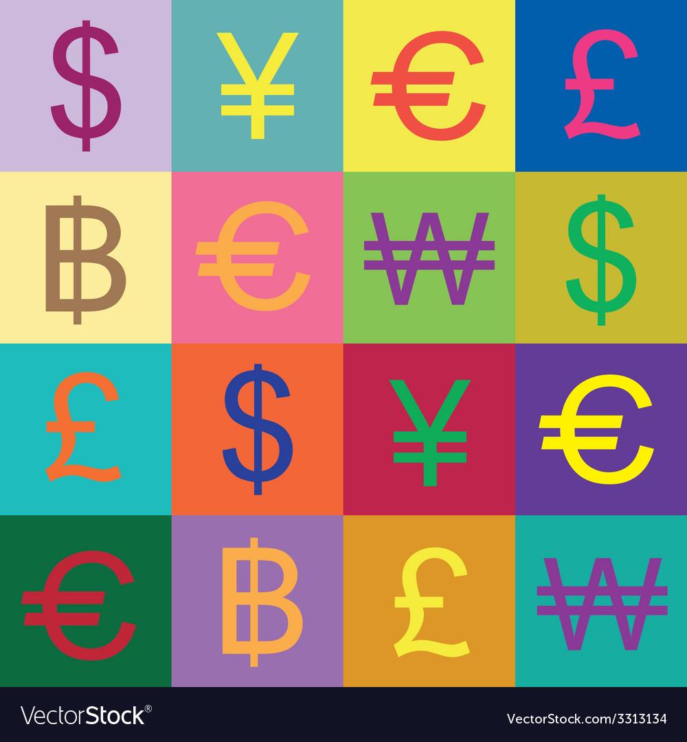 Currency symbols design vector   Price: 1 Credit (USD $1)
