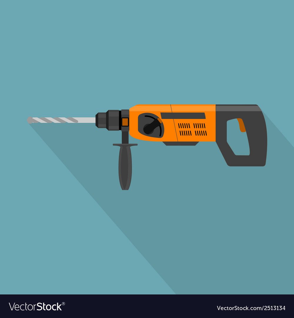 Flat drill vector | Price: 1 Credit (USD $1)