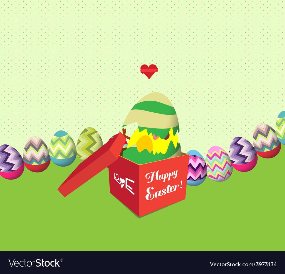 Happy eggs open the gift vector | Price: 1 Credit (USD $1)