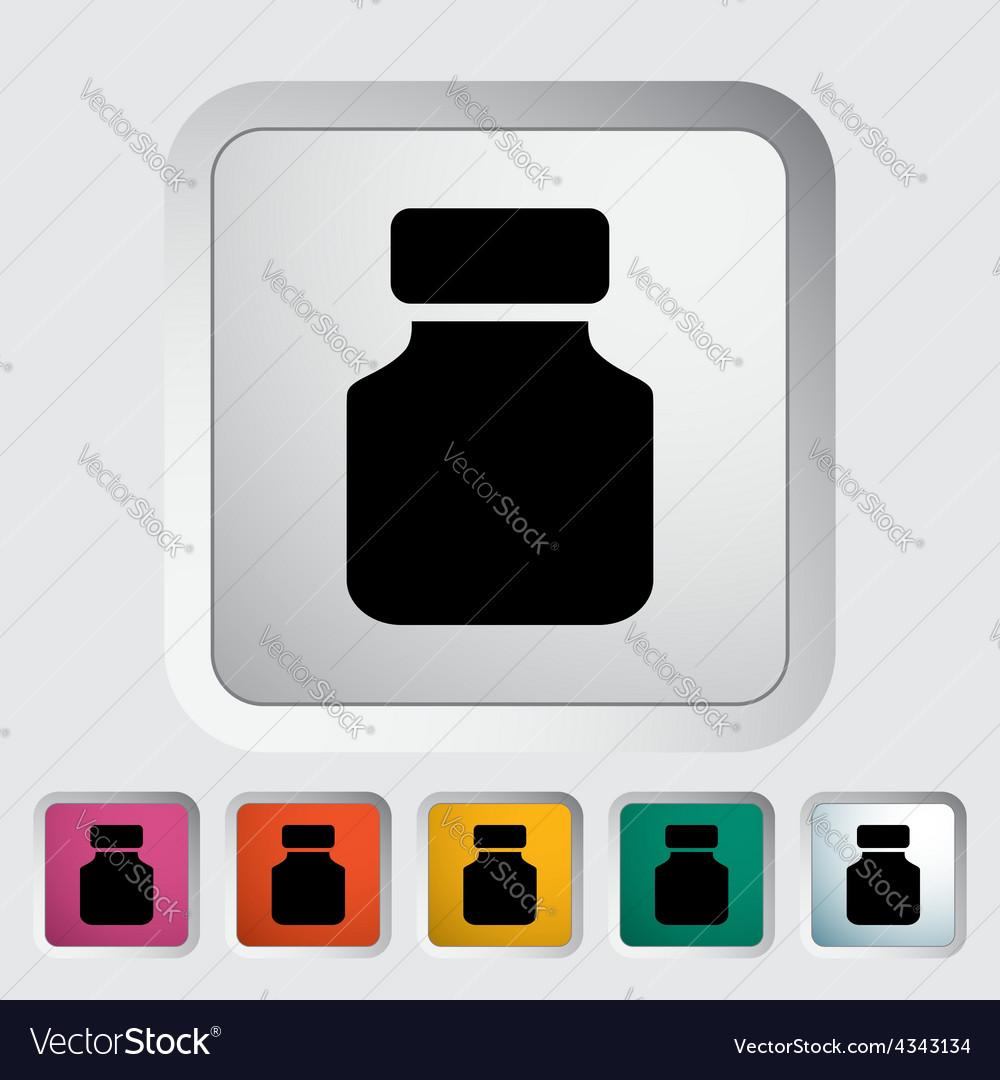 Jar flat icon vector | Price: 1 Credit (USD $1)