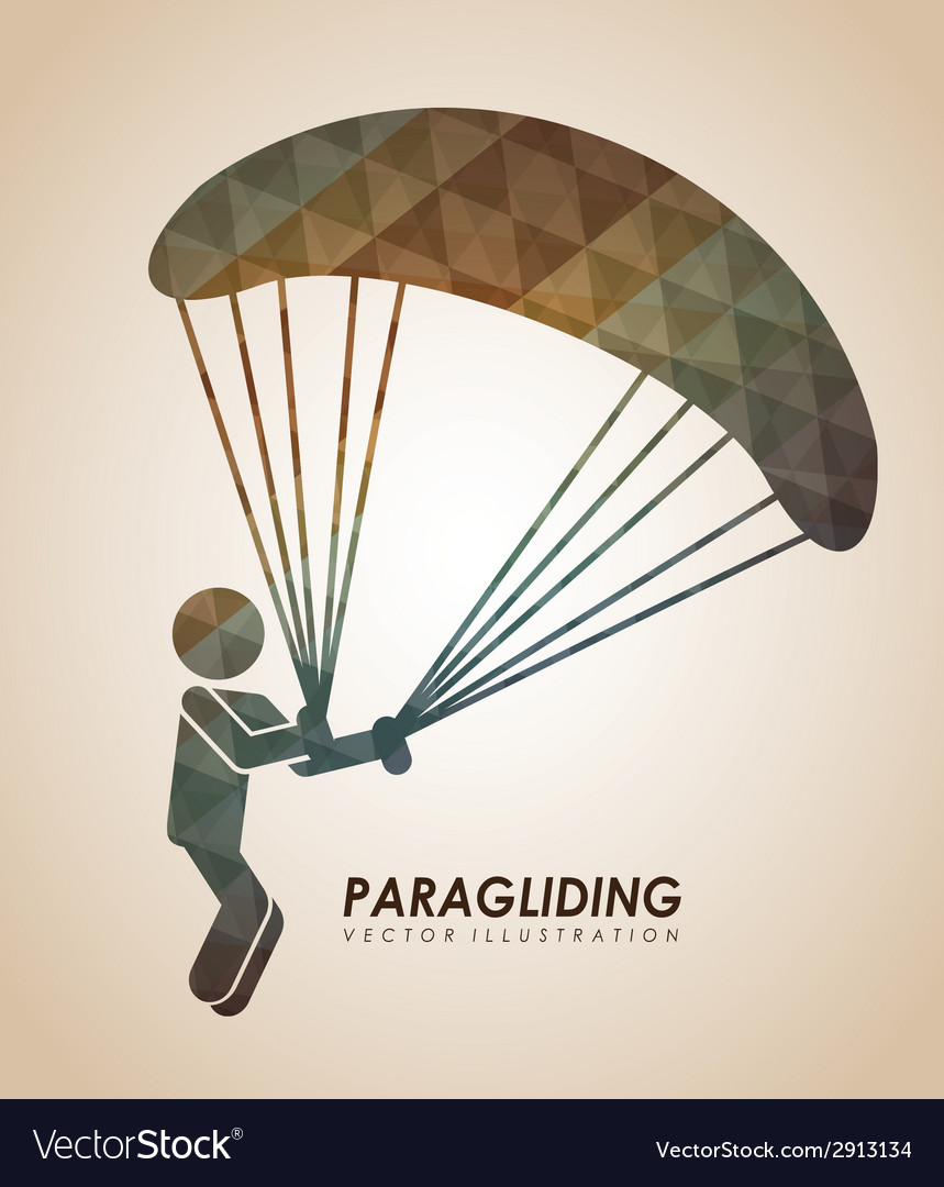 Paragliding vector   Price: 1 Credit (USD $1)