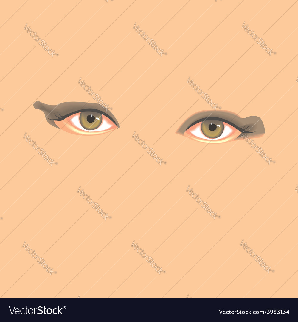 Realistic hand drawn eyes in vector | Price: 1 Credit (USD $1)