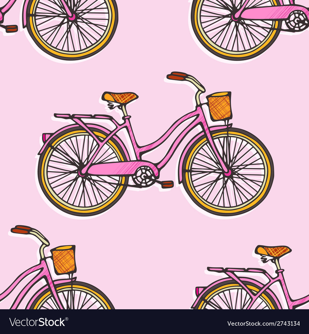 Seamless pattern with colorful hand drawn vintage vector | Price: 1 Credit (USD $1)