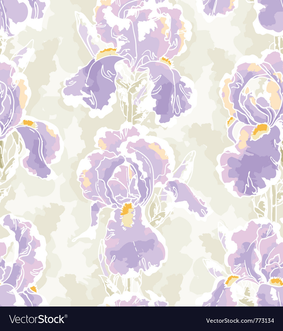 Seamless pattern with iris vector | Price: 1 Credit (USD $1)