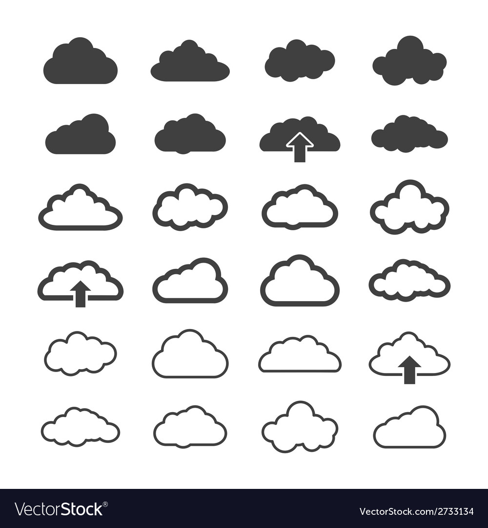 Set of clouds vector | Price: 1 Credit (USD $1)