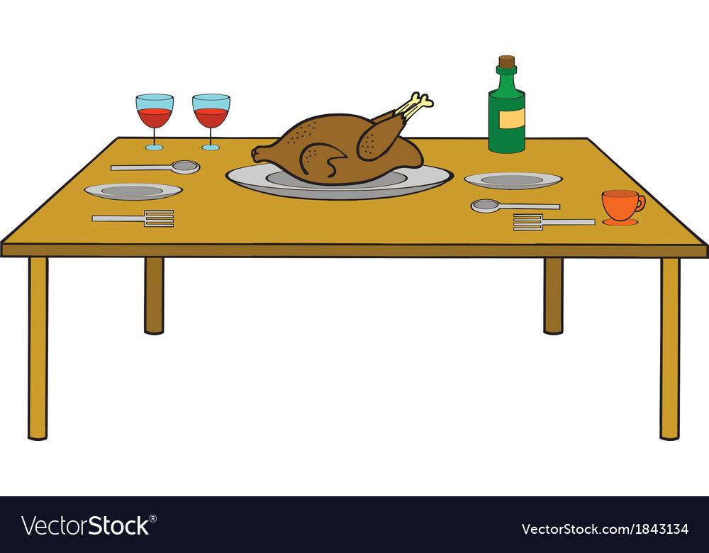 Turkey dinner vector | Price: 1 Credit (USD $1)