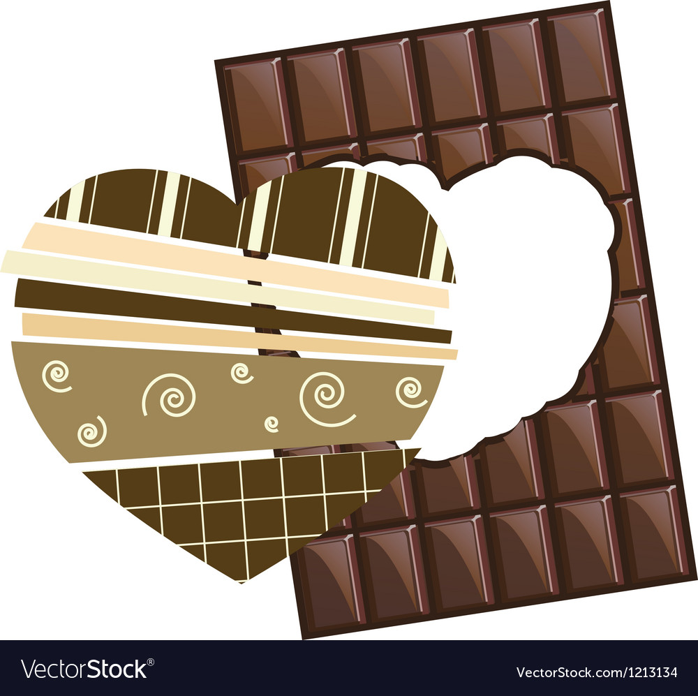 Valentine chocolate with scrapbook hearr inside vector | Price: 1 Credit (USD $1)