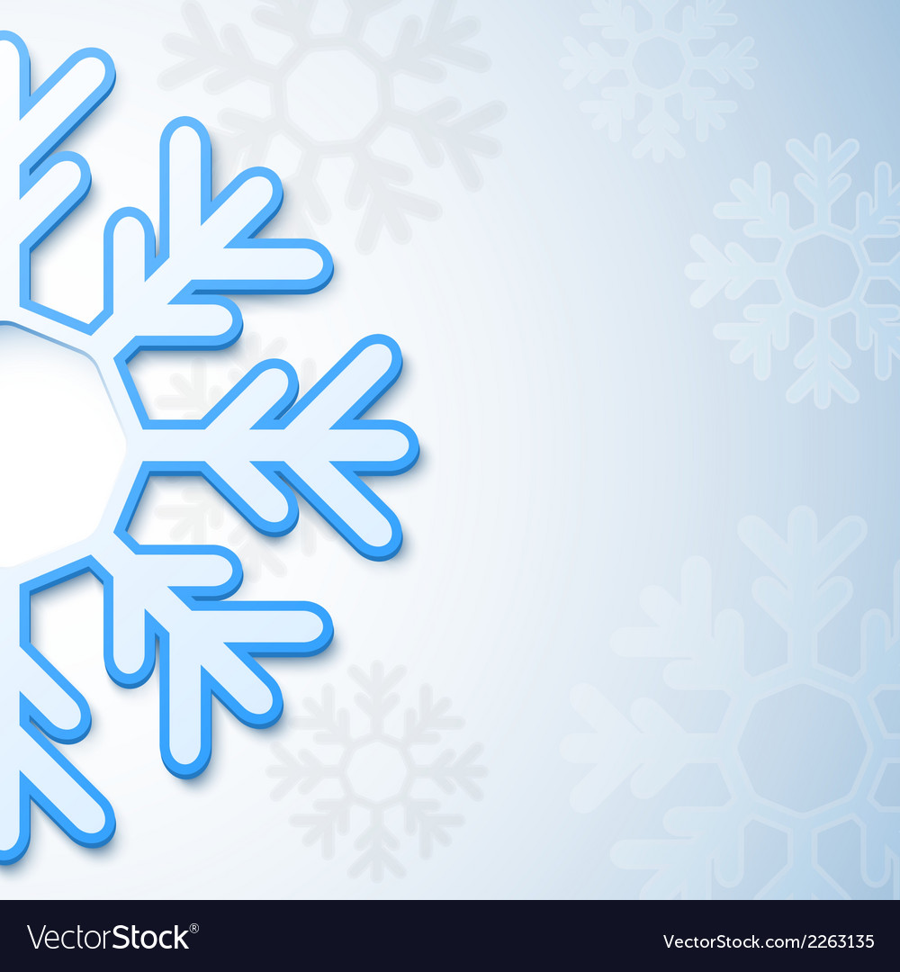 Abstract christmas snowflake background vector | Price: 1 Credit (USD $1)