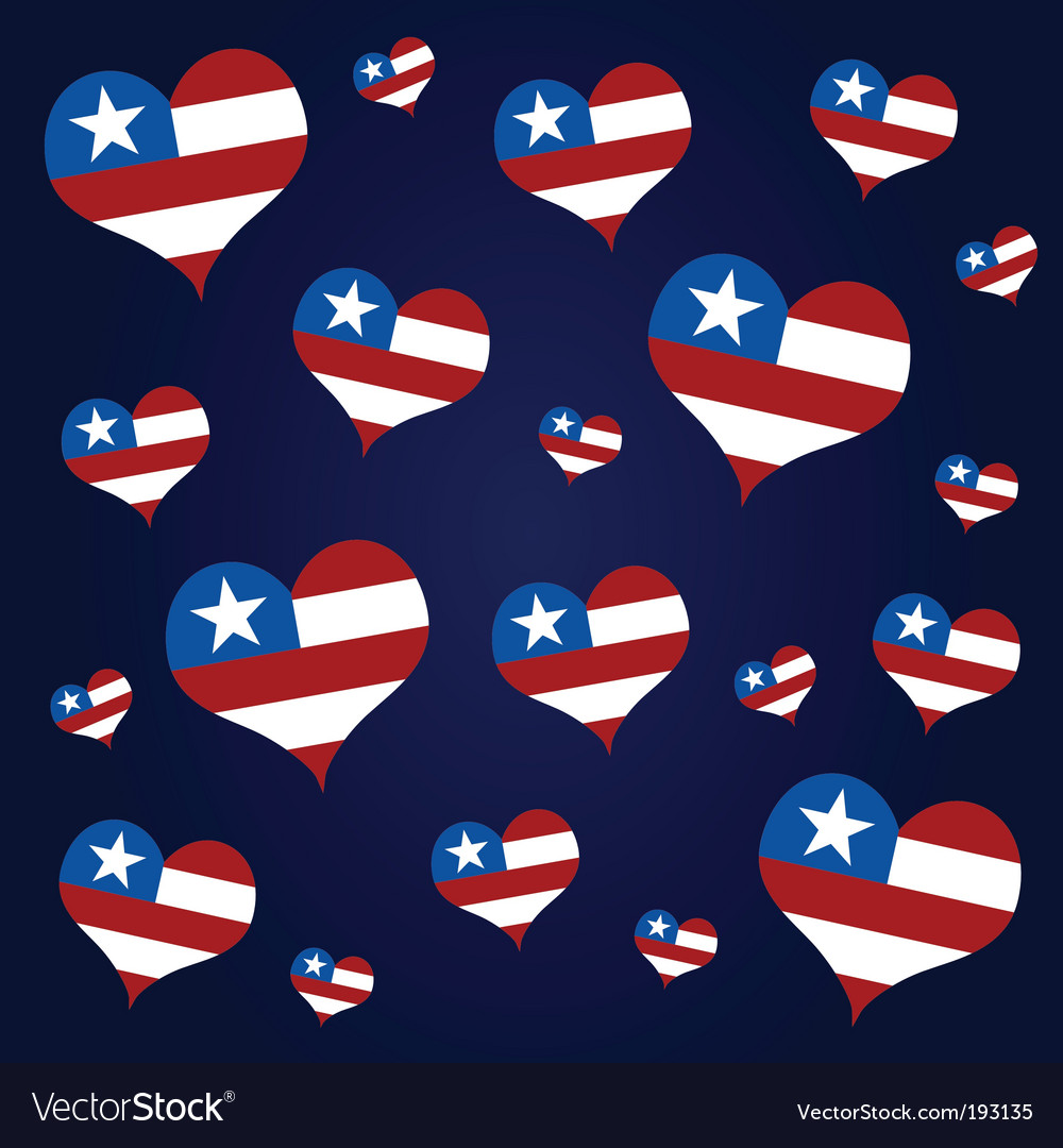 American hearts vector | Price: 1 Credit (USD $1)