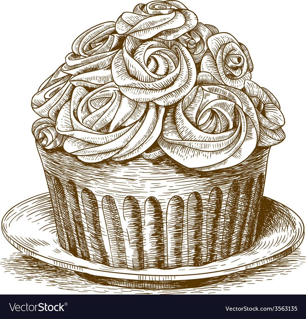 Engraving cake vector | Price: 3 Credit (USD $3)