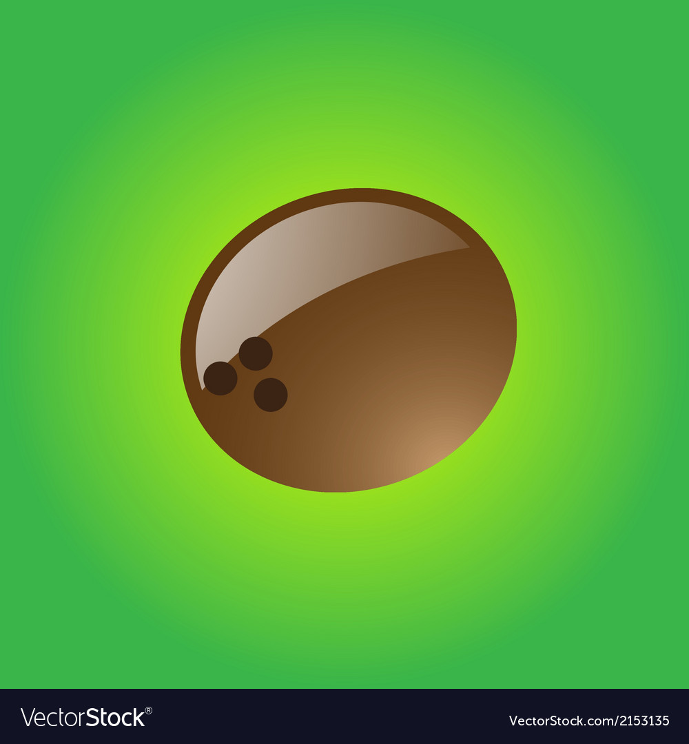 Glossy coconut vector | Price: 1 Credit (USD $1)
