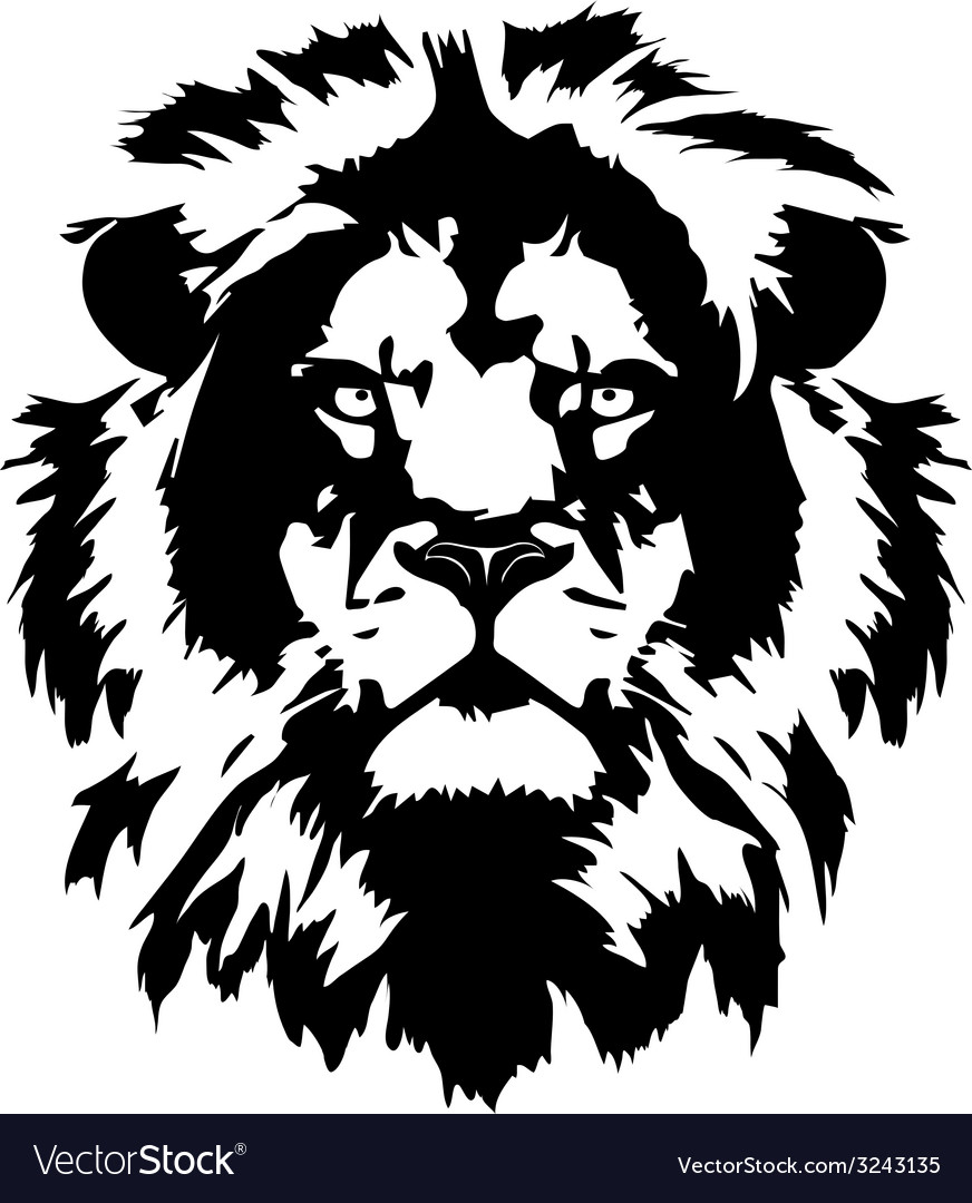 Lion hed in format vector | Price: 1 Credit (USD $1)