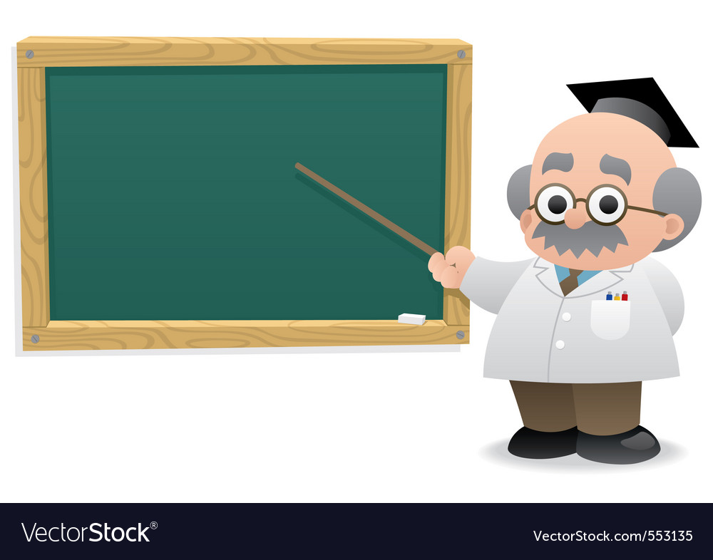 Professor  blackboard vector | Price: 1 Credit (USD $1)