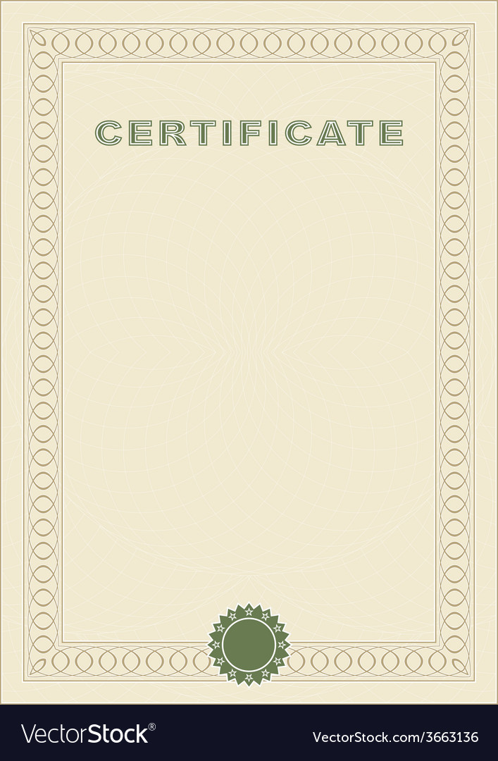 Certificate blank vector | Price: 1 Credit (USD $1)