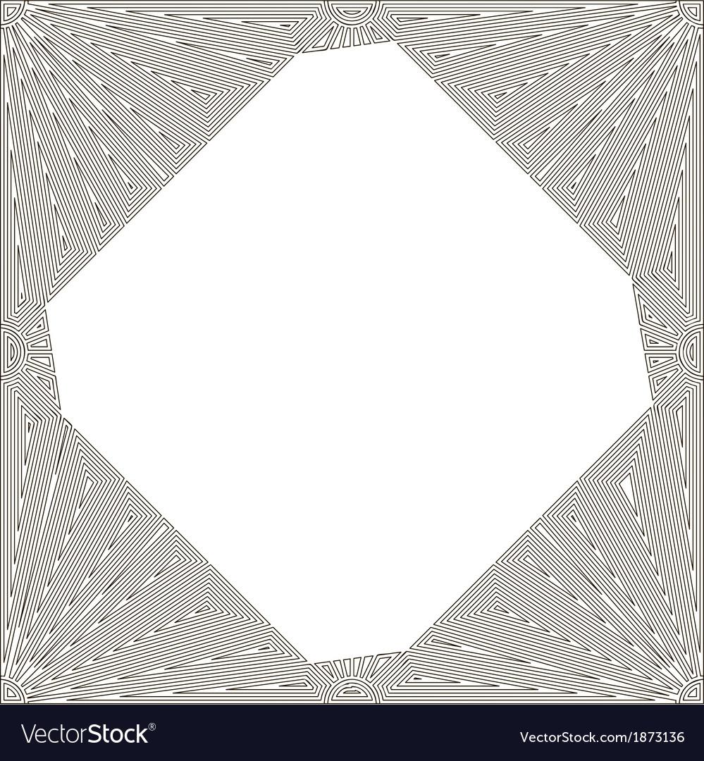 Decorative art nouveau frame vector | Price: 1 Credit (USD $1)