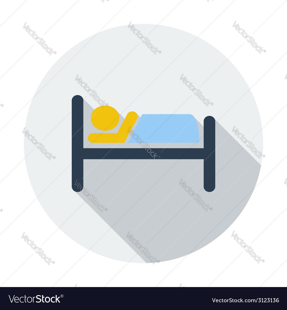 Hotel single icon vector | Price: 1 Credit (USD $1)