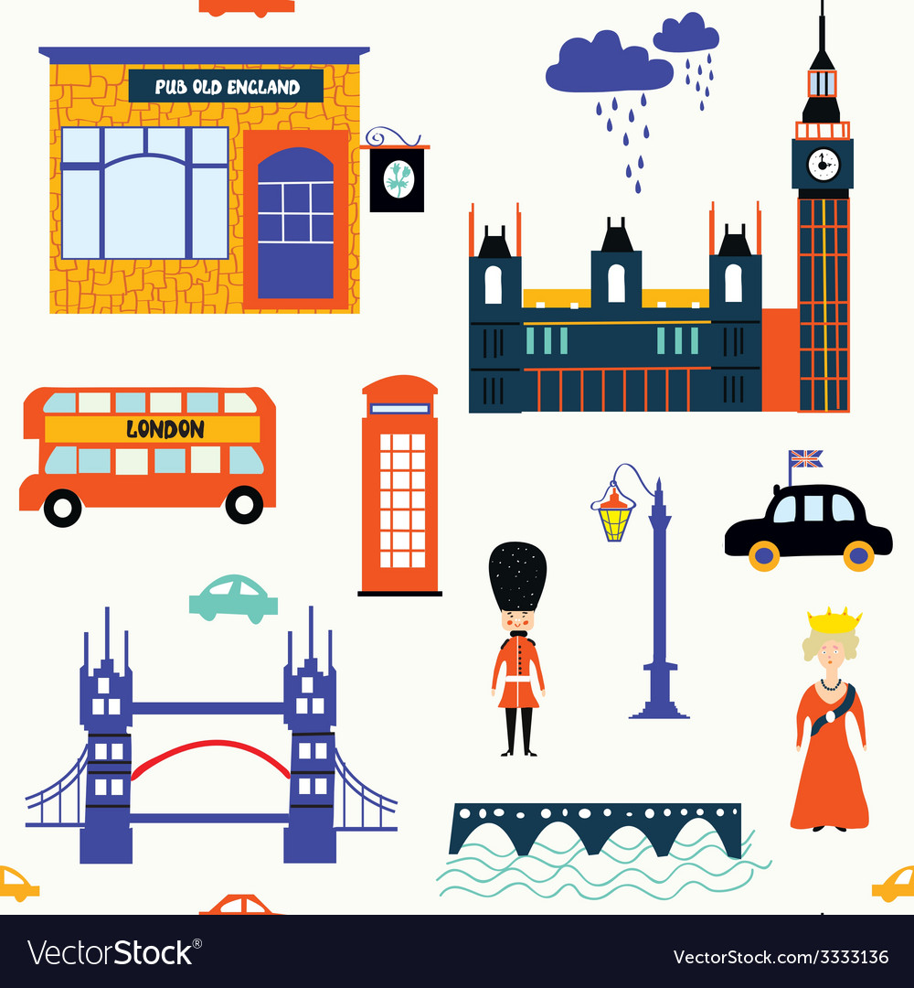 London symbols seamless patt vector | Price: 1 Credit (USD $1)