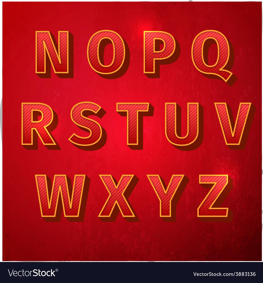 Retro vintage font vector   Price: 1 Credit (USD $1)