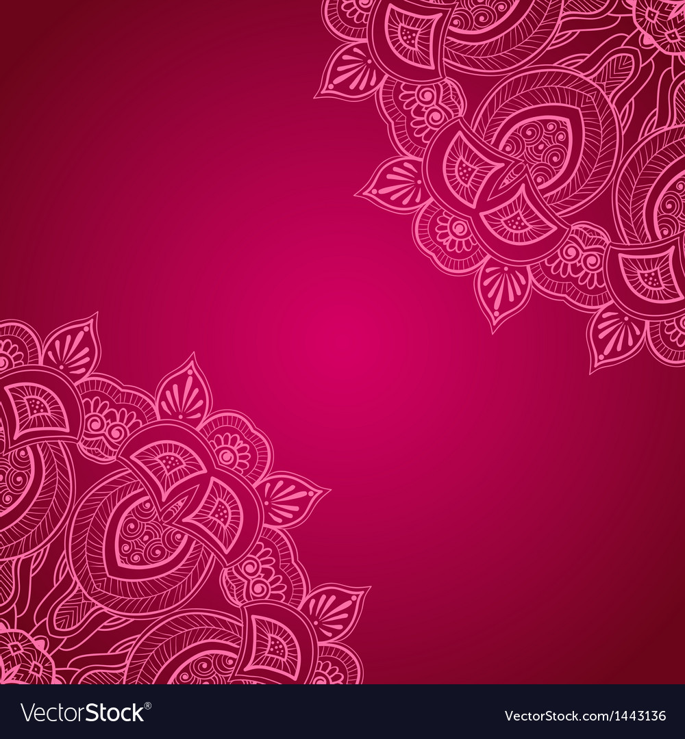 Vinous background with lace ornament vector | Price: 1 Credit (USD $1)