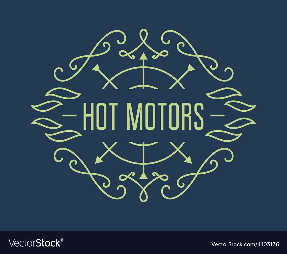 Vintage motorcycle labels badges or design vector | Price: 1 Credit (USD $1)