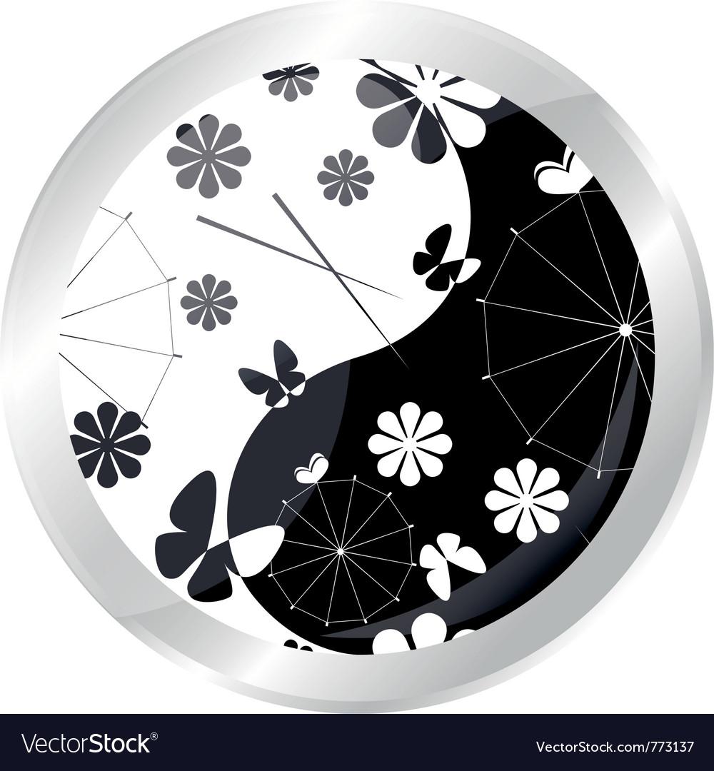 Button with jaran parasol vector | Price: 1 Credit (USD $1)