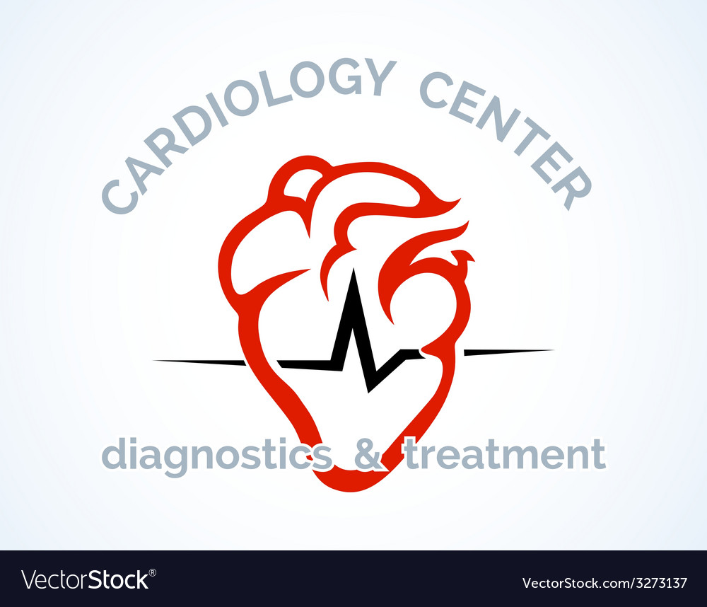 Cardiology centre logo vector | Price: 1 Credit (USD $1)