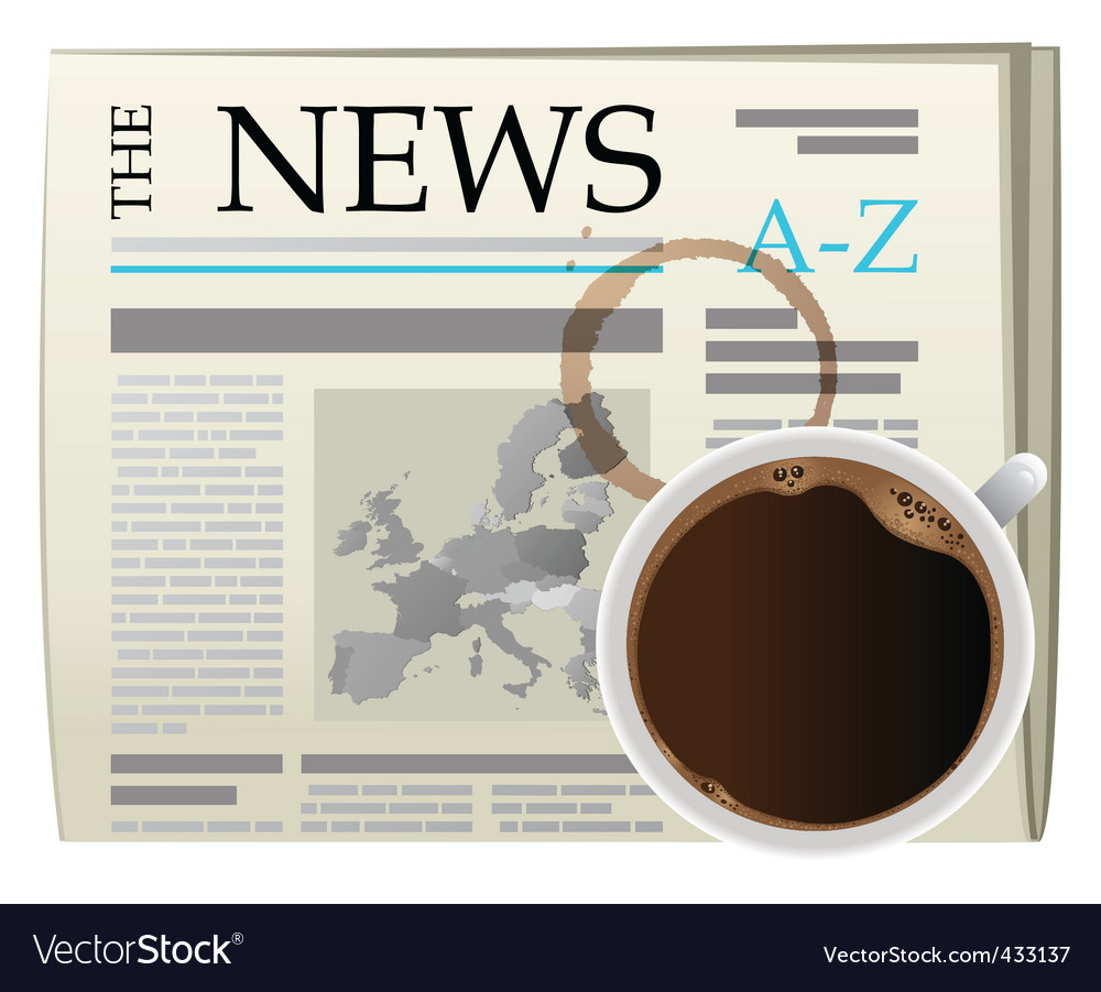 Coffee and newspaper vector | Price: 1 Credit (USD $1)