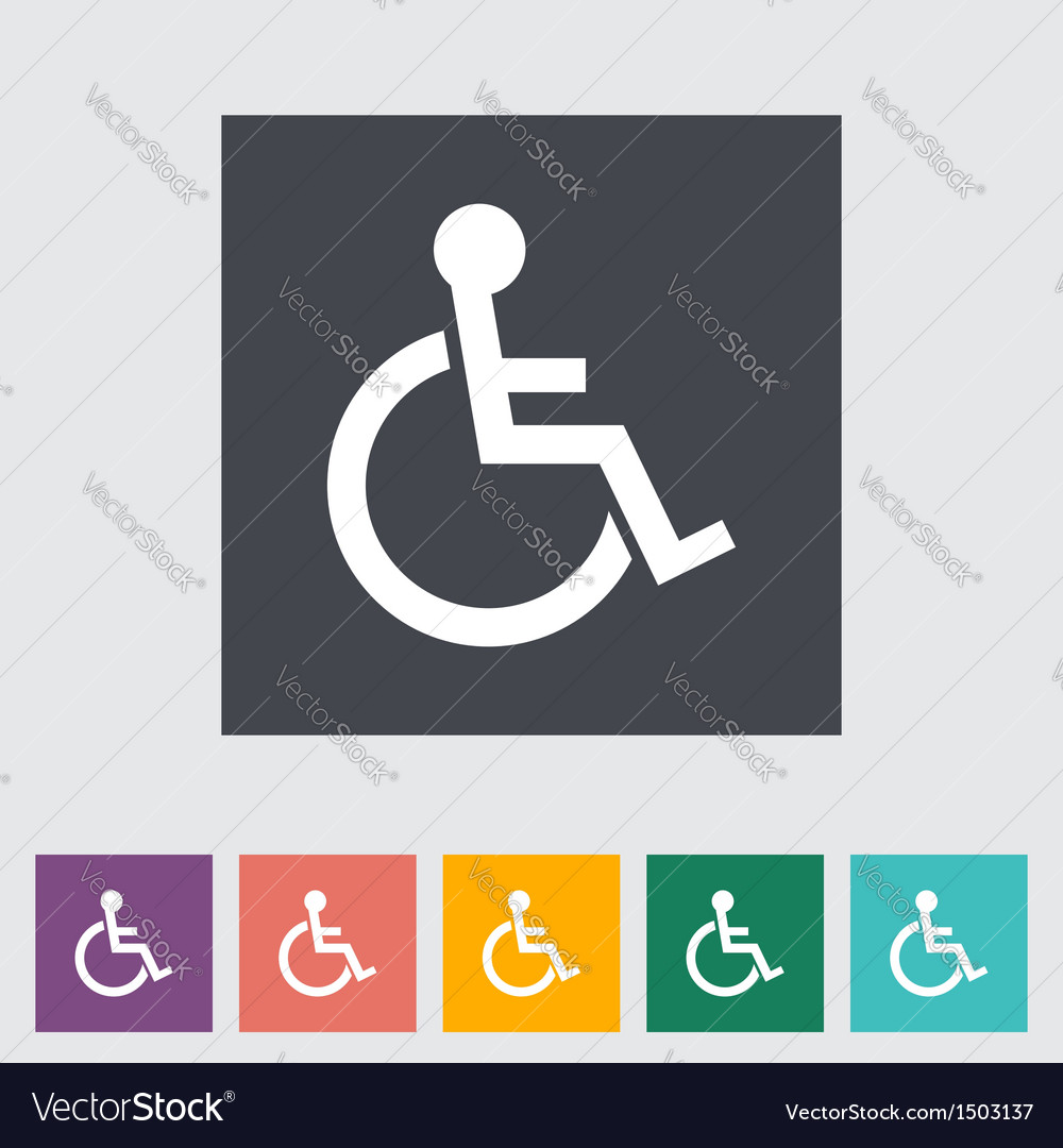 Disabled vector | Price: 1 Credit (USD $1)