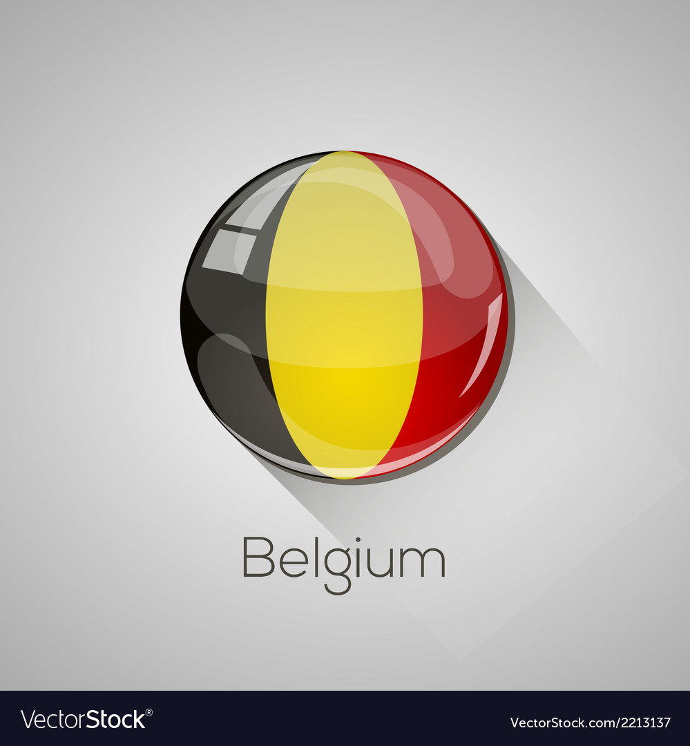 European flags set - belgium vector | Price: 1 Credit (USD $1)