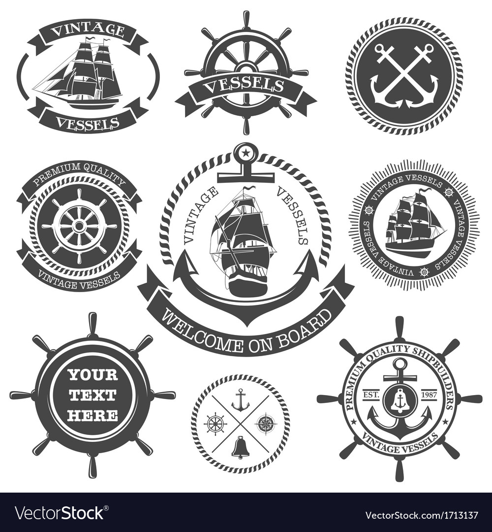 Nautical set 4 vector