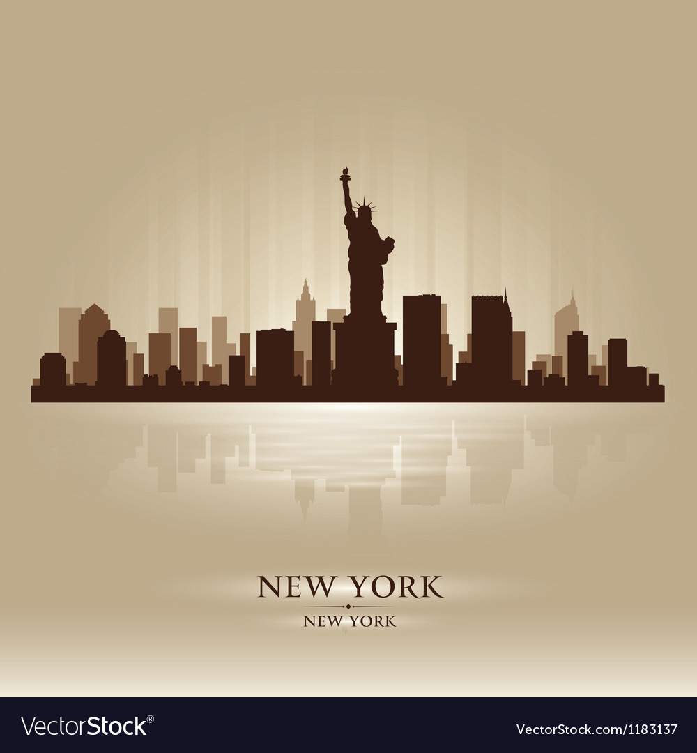 New york skyline city silhouette vector | Price: 1 Credit (USD $1)